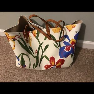 Tory Burch Floral Bag and Matching wallet